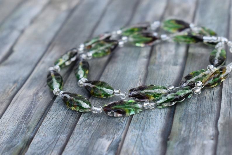 Necklace / glass bead necklace / necklace / necklace / glass image 0