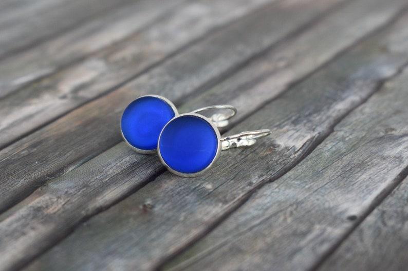 Earrings / sea glass earrings / sea glass earrings / cabochon image 0