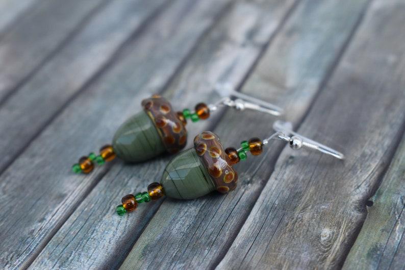 Earrings / woman earrings / glass bead earrings / earrings / image 0