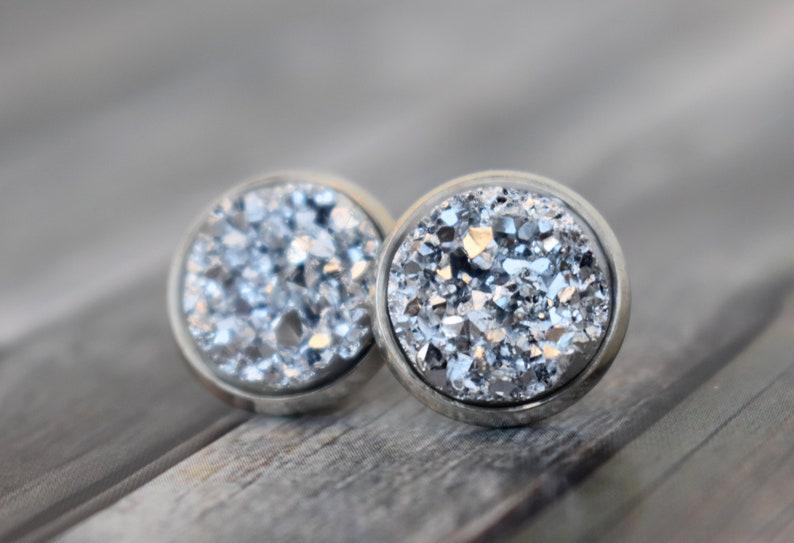 Stud earrings / earrings / cabochon earrings / cabochon studs image 0