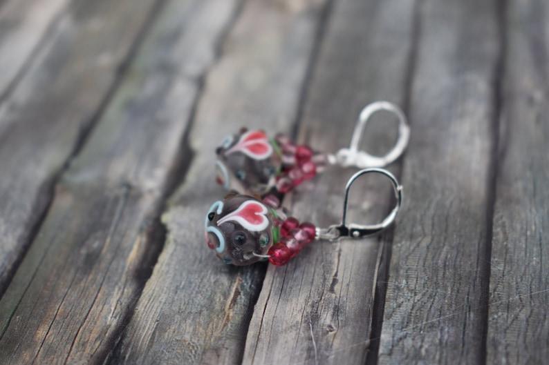 Earrings / 925'er silver / earrings / earrings / glass image 0
