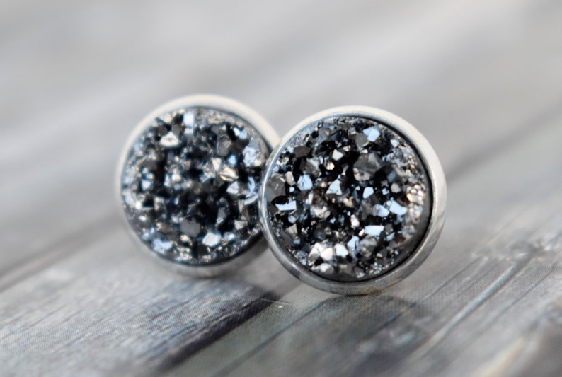 Stud earrings / earrings / cabochon earrings / cabochon studs image 0