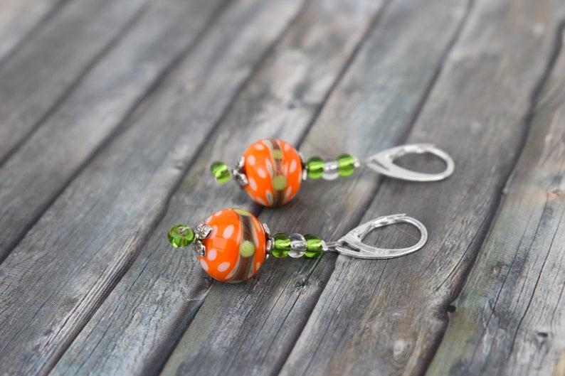 Earrings / 925'er silver / woman earrings / glass bead image 0