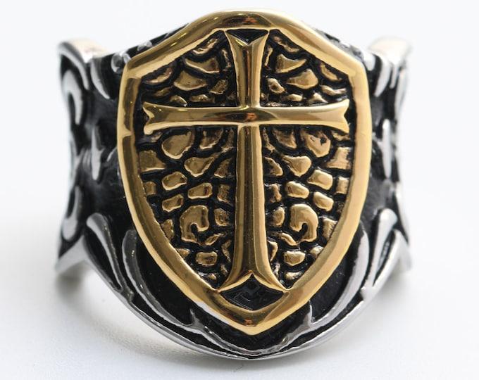 Jesus Cross Knights Templar Ring