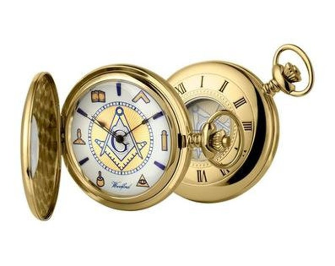 Masonic Gold Plated Half Hunter Pocket
