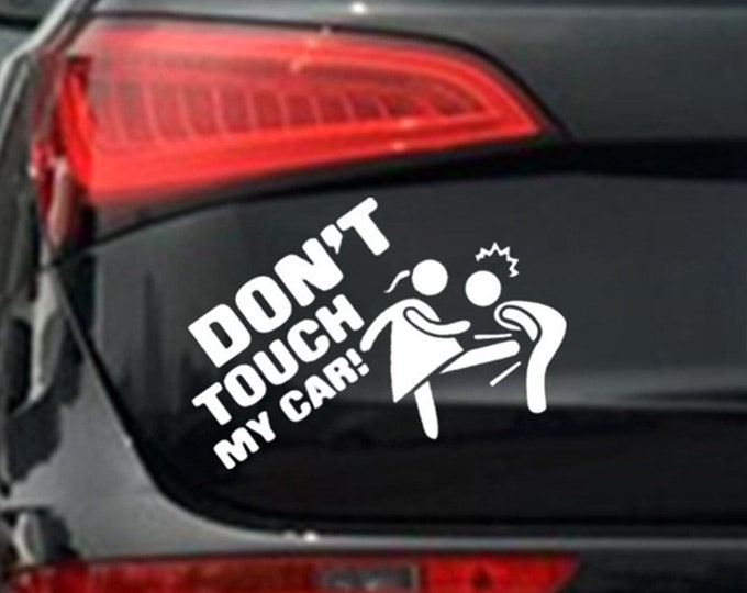 Reflective Vinyl Car Stickers Don't Touch My Car