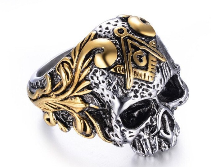 Classic Masonic Skull Head Rings