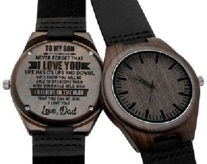 To My Son Quartz Wristwatch