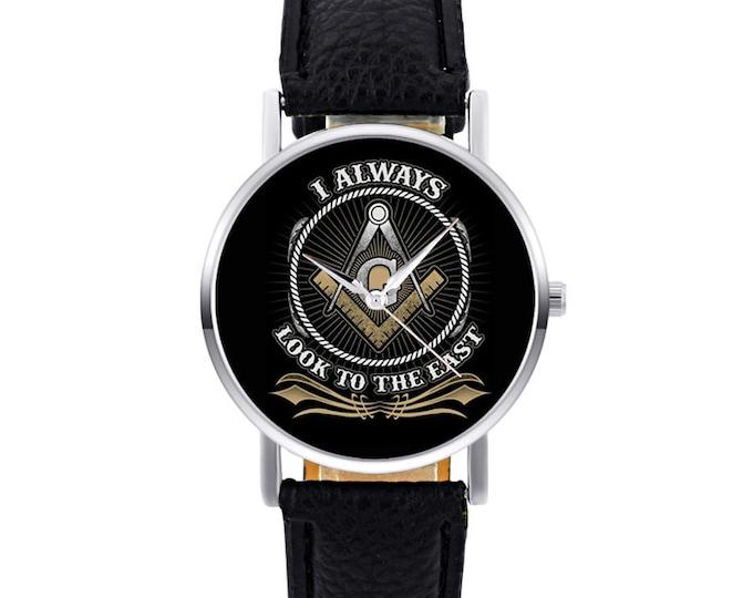 Classic Fashion Masonic Logo Quartz Wristwatch
