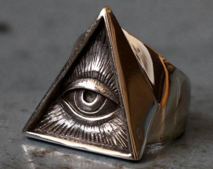 Pyramid Eye Ring