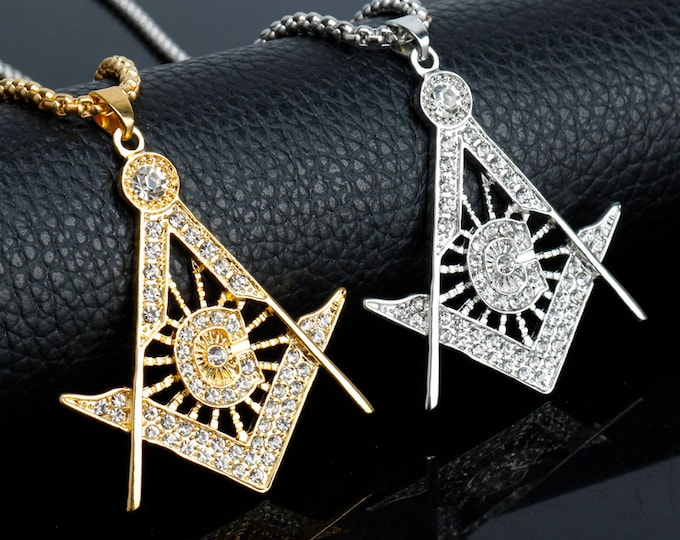 Gold Silver Color Freemason Masonic Necklaces