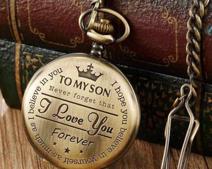 Pocket Watch To My Son I Love You