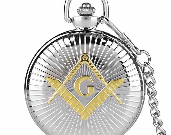 Masonic Pocket Watch with 30cm Chain
