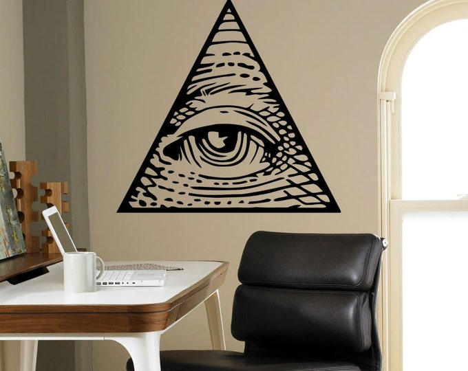 Decor Living Room. All Seeing Eye Pyramid (Illuminati / Masonic )