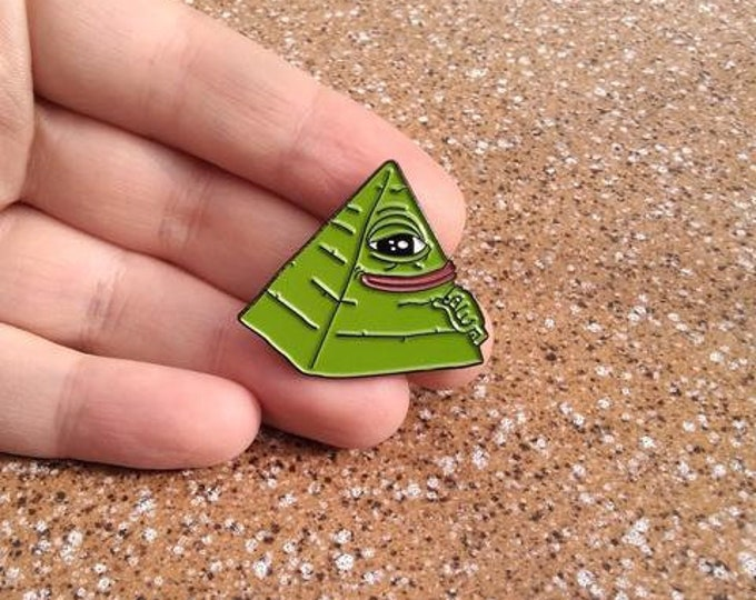 Illuminati pyramid pin.
