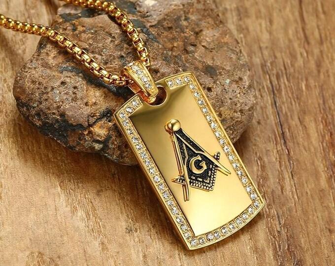 Men's Masonic Pendant Necklace