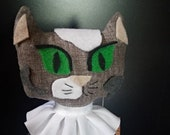 Witch Kitty Soft Sculpture- Calico Kitty with Moon and Stars Dress