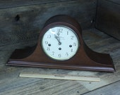 Free Shipping Seth Thomas Westminster chime clock wit key 2 jewel 7208 8 day wined up clock