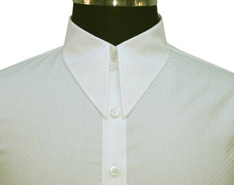 Dagger Spear point Vintage shirt White Stripes WWII 1930s 1940s Classic fit Gent