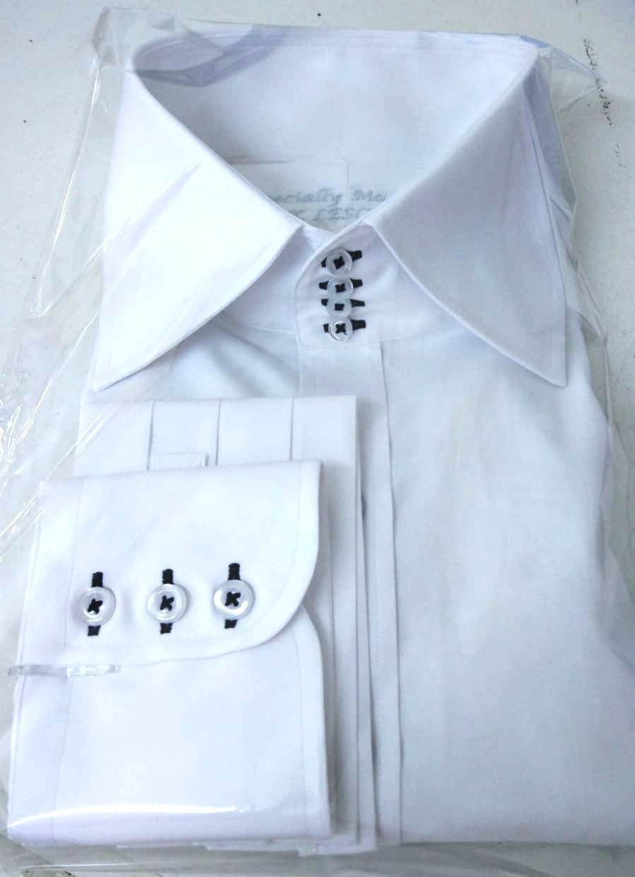 Mens High Collar Shirts 4 Buttons Spread Collar 3 High Etsy