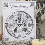 2019 Sabbat Calendar (DIGITAL) - Wheel of the Year - Wiccan Sabbats - Pagan Days of Celebration - Northern Southern Hemisphere - Printable