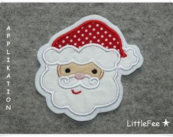 ag82 Weihnachtsmann Aufnäher Bügelbild Patch Santa Claus Weihnachten Kinder DIY