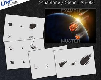 Scrapbooking Schablone S-019  Vierecke ~ Stencil ~ UMR-Design