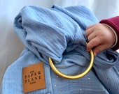 """Muslin Ring Sling """"Baby Sparkle"""""""