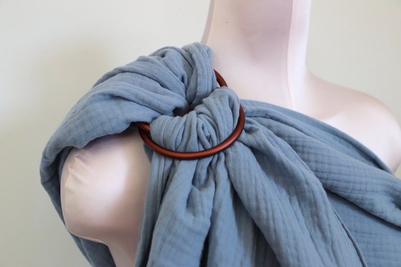 Ring Sling Baby Carrier from Muslin Nysa Bronze