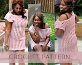 Crochet Pattern//Crochet Swimsuit Cover// Crochet Tunic PATTERN pdf