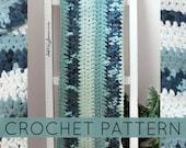 Striped Crochet Blanket| Crochet Blanket| Simple Crochet Blanket| (PATTERN ONLY) Instant PDf Download