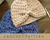 Crochet Turban//Crochet Hat// Crochet Knot Beanie//Crochet Turban Hat (PATTERN) pdf Instant Download