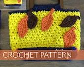 Boutique Style Crochet Purse|  Crochet Purse with Wooden Handles| Fall Design Crochet Purse (PATTERN) PDF Instant Download