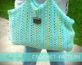 Floppy Crochet Bag| Oversized Crochet Bag with Wooden Handles| Beach Crochet Bag (PATTERN) PDF Instant Download