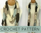 Crochet Scarf//Chain Loop Crochet Scarf// Crochet Loop Scarf//(PATTERN) pdf Instant Download