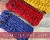 Crochet Textured Headband/Crochet Headband// Crochet Ear Warmer //Crochet Adjustable Headband (PATTERN) pdf Instant Download