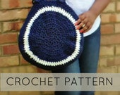 Round Crochet Bag| Circular Crochet Bag with Wooden Handles| Round Crochet Bag with Zipper (PATTERN) PDF Instant Download