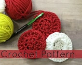 Crochet Scrubbers| Crochet Scrubby with Grip| Round Crochet Dishcloth | (PATTERN ONLY) Instant PDf Download