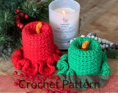 Crochet Vintage Candles| Crochet Candles| Crochet Holiday Decor| Crochet Table Decoration| (PATTERN ONLY) Instant PDf Download