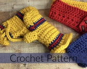 Crochet Mitten Pattern//Cozy Chunky Crochet Mittens// Crochet Lady Mitten//Sunrise Crochet Mitten (PATTERN) Large Print PDF Instant Download