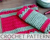 Dish or That Crochet  Cloth| Crochet Dishcloth| Crochet WashCloth| Crochet Housewarming Gift (PATTERN ONLY) Instant PDf Download