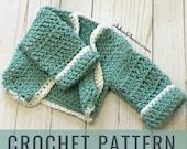 Crochet Baby Cardigan//LightWeight Baby Cardigan// Crochet Baby Gift //Baby Cardigan (Sizing Newborn-24Mo) (PATTERN) pdf Instant Download