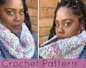 Crochet Cowl//Lemon Peel Crochet Cowl// Chunky Crochet Cowl//Crochet Scarf Cowl (PATTERN) pdf Instant Download