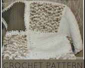Crochet Blanket| Patch Quilt Crochet Blanket| PDF PATTERN|  Instant Download |Crochet Baby Blanket Pattern| Crochet Patched Blanket Pattern