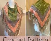 Crochet Shawl//LightWeight Shawl// Crochet Shawlette //Dreamscape Crochet Shawl (PATTERN) pdf Instant Download