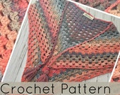 Crochet Shawl//LightWeight Shawl// Crochet Wrap //Horizon Crochet Shawl (PATTERN) pdf Instant Download
