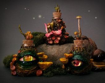 Herbal Potion Bottles - Halloween decor / Altar item/ Curiosity cabinet