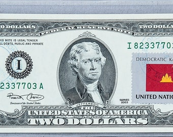 Two Dollar Stamps US 2 Dollar Bill Paper Money Currency | Etsy
