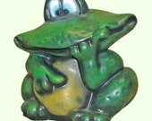 Statue Toad Garden Frog Large Toad Garden Decor Outdoor Frog Green Frog Frog Figurine Lawn Ornament Feng Shui Gift Frog Lover Gift