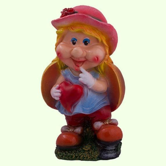Garden Gnome Girl Gnome Garden Statue Large Lady Gnome | Etsy